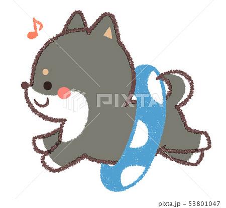 黒柴犬浮き輪 53801047