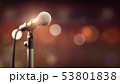 Microphone on abstract background. Audio, music, 53801838