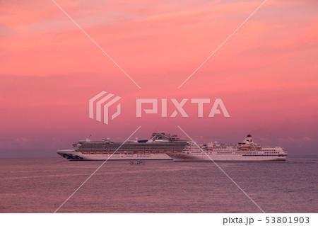 豪華客船太平洋に浮かぶ(Diamond Princess&PACIFIC VENUS) 53801903
