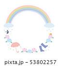 フレーム素材-梅雨イメージ2 53802257