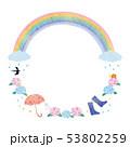 フレーム素材-梅雨イメージ2テク 53802259