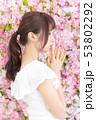 若い女性 ヘアスタイル 53802292