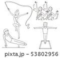 オリンピック体操競技表現競技線画 53802956