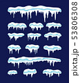 vector collection of icicles and snow 53806308