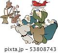 浮世絵 人々 男性のイラスト 53808743