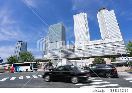 名古屋駅裏 椿町北交差点と駅ビル 53812215