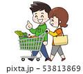 買い物 夫婦 ショッピングのイラスト 53813869