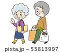 買い物 シニア 老夫婦のイラスト 53813997