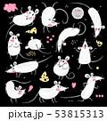 ねずみ ネズミ ベクタのイラスト 53815313