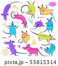 ねずみ ネズミ ベクタのイラスト 53815314