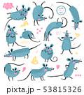 ねずみ ネズミ ベクタのイラスト 53815326