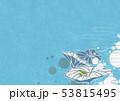 背景素材-夏イメージ-和モダン-水玉-水草-ハス-カエル 53815495