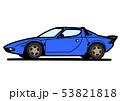 イタリアンヒストリッククーペ 青色 自動車イラスト 53821818