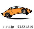 イタリアンヒストリッククーペ ジャンプ オレンジ色 自動車イラスト 53821819