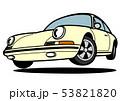 ドイツのヒストリックスポーツ ジャンプ 黄色系 自動車イラスト 53821820