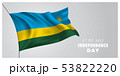 Rwanda happy independence day greeting card, 53822220