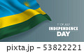 Rwanda happy independence day greeting card, 53822221