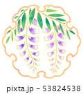 水彩 雪輪 花のイラスト 53824538