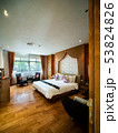 Luxury room with bed in warm light, Classic Europe 53824826
