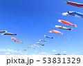 青空 鯉幟 端午の節句の写真 53831329