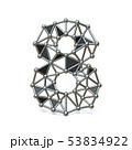 Wire low poly black metal Number 8 EIGHT 3D 53834922