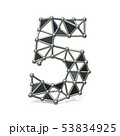 Wire low poly black metal Number 5 FIVE 3D 53834925