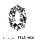 Wire low poly black metal Number 0 ZERO 3D 53834930