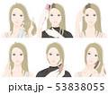 女性 美容 ヘアケアのイラスト 53838055