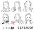 女性 美容 ヘアケアのイラスト 53838056