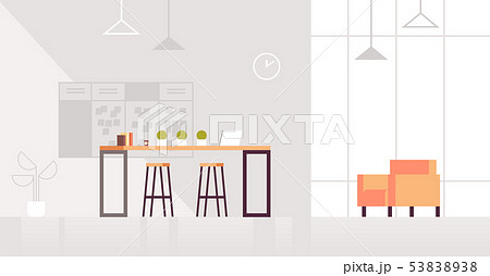 creative lounge area modern office interior contemporary co-working center flat horizontal 53838938