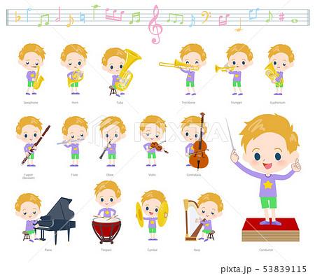 blond hair boy_classic music 53839115