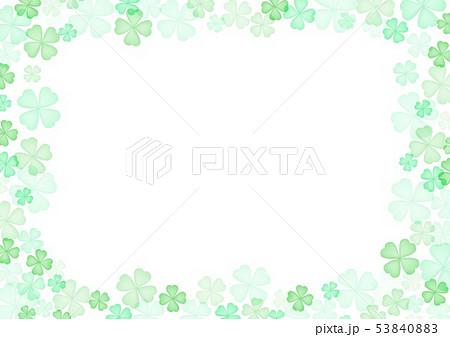 春緑クローバー背景 53840883