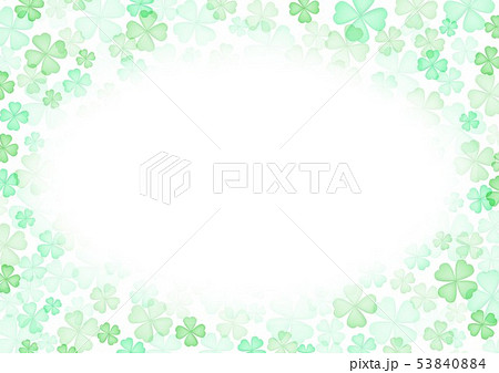 春緑クローバー背景 53840884