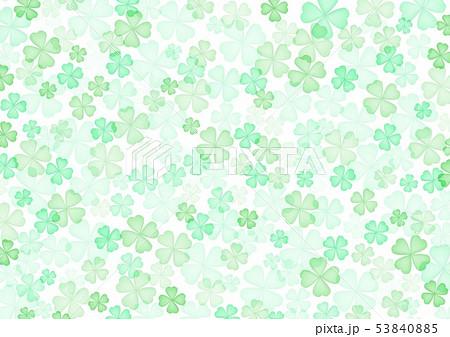 春緑クローバー背景 53840885