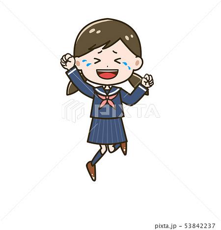 大喜びする女の子 ポーズ イラスト 53842237
