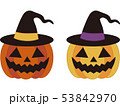 ハロウィン ジャックランタン 帽子のイラスト 53842970