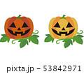 ハロウィン ジャックランタン 葉のイラスト 53842971