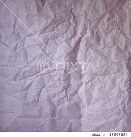 Old crumpled paper vintage texture. Rough wrinkled pink purple color shadows sheet. Textured grunge 53843625