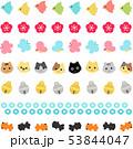 ライン 猫 梅のイラスト 53844047