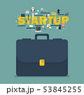 Startup business concept with briefcase 53845255