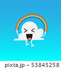 Cloud character emoji jumping rainbow rope 53845258