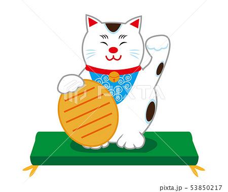 猫 招き猫 座布団 53850217