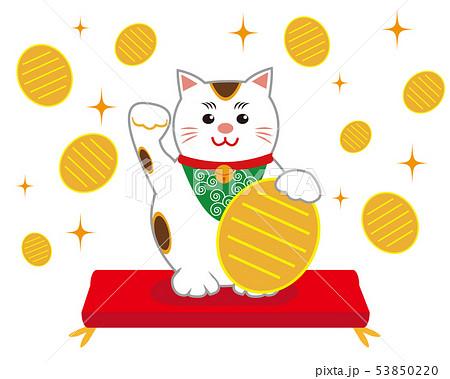 猫 招き猫 座布団 53850220