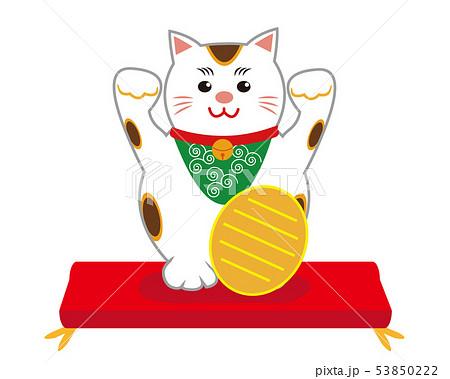 猫 招き猫 座布団 53850222