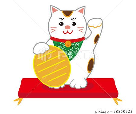 猫 招き猫 座布団 53850223