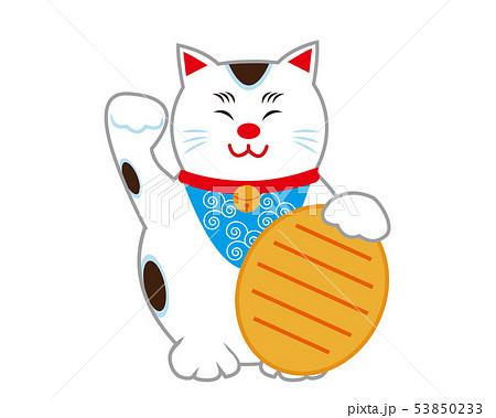 猫 招き猫 小判 53850233
