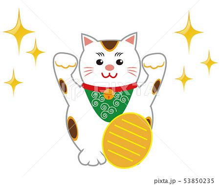 猫 招き猫 小判 53850235