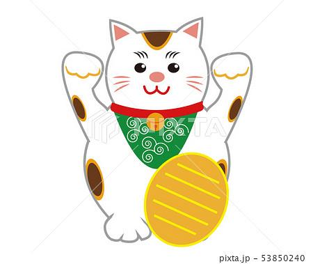 猫 招き猫 小判 53850240