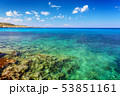 landscape with green sea and blue sky 53851161