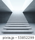 modern staircase in concrete interior 53852299